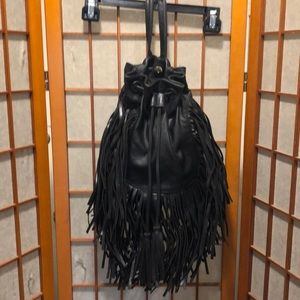 Forever 21 vegan leather fringed backpack